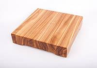 Кухонная доска для рубки, разделки и отбивания мяса из ясеня 25х25х5 см, фото 1