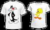 """Парные футболки """"Сильвестр и Твитти"""""""