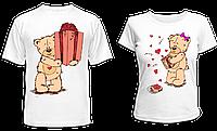 """Парные футболки """"Мишки - 2"""", фото 1"""