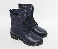 Женские ботинки на шнурках, натуральная кожа и замш, фото 1