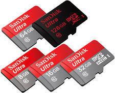 Карты памяти MicroSDHC