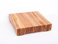 Кухонная доска для рубки, разделки и отбивания мяса из ясеня 20х20х4 см, фото 1
