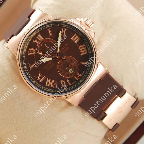 Популярные наручные часы Ulysse Nardin Lelocle Suisse Gold/Brown 2314
