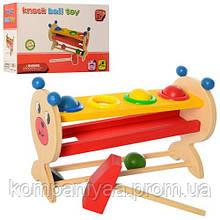 Розвиваюча іграшка Стучалка MD 2338 дерев'яна