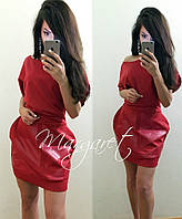 Стильное молодежное платье с украшением на поясе