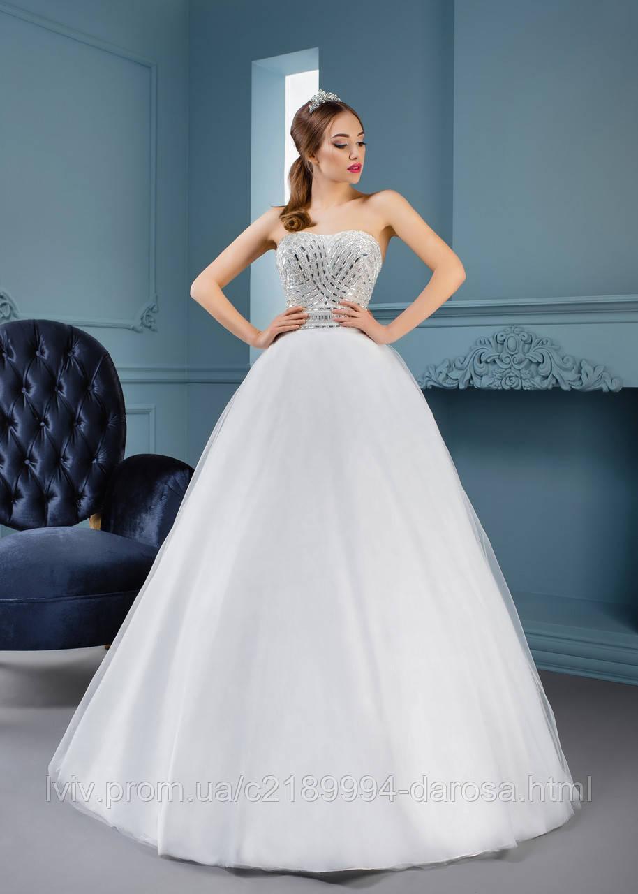 Свадебное платье на карсете