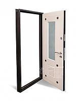 Двери входные ТМ Абвер модель Милагро с зеркалом внутри