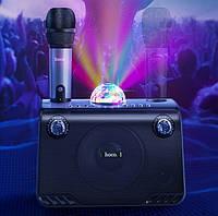 Портативная караоке колонка Hoco BS41 с беспроводным микрофоном и светомузыкой