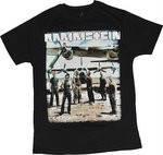 Рок-футболка Rammstein (фото группы возле самолета)