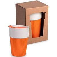 Чашка з силіконовою вставкою (10 кольорів). Брендування