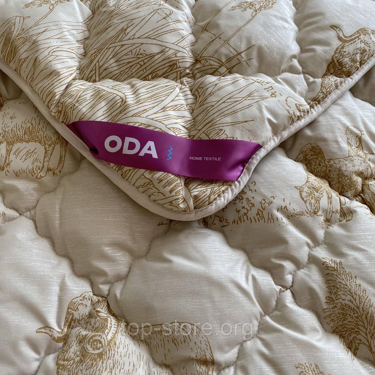Одеяло на овчине евро размера 200х220 Качественное, теплое зимнее одеяло ODA