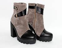 Женские ботинки на высоком каблуке, фото 1