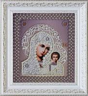 P-208 Набор для вышивания бисером Казанская Икона Божией Матери. Венчальная пара