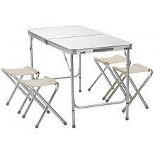 Набор для пикника складной стол + 4 стула 9300