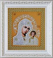 P-206 Набор для вышивания бисером Казанская Икона Божией Матери. Венчальная пара (золото)