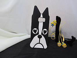 Объемный 3D силиконовый чехол для Samsung S6 Galaxy Duos G9200 Собака