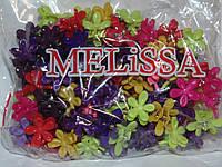 Крабики цветочек каучуковые цветные темные маленькие