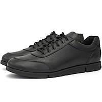 Черные кроссовки кеды повседневные кожаные мужская обувь демисезонная Rosso Avangard Ada Casual Black Floto