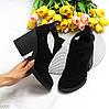 Модельні чорні замшеві ботильйони жіночі черевики натуральна замша, фото 9