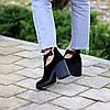 Модельные черные замшевые женские ботинки ботильоны натуральная замша, фото 3