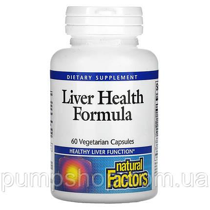 Для поддержания и восстановления печени Natural Factors Liver Health Formula 60 капс., фото 2