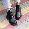 Шкіряні дизайнерські чорні жіночі чоботи натуральна шкіра на флісі, фото 7
