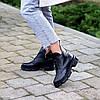 Шкіряні дизайнерські чорні жіночі чоботи натуральна шкіра на флісі, фото 9
