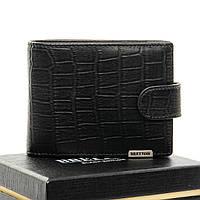 Мужское  портмоне Crocodile кожа BRETTON M3201 black.Мужские кошельки оптом и в розницу Украине