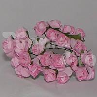 Цветок розы бумажный розовый