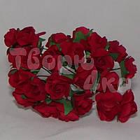 Цветок розы бумажный красный