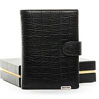 Мужское  портмоне Crocodile кожа BRETTON M5406 black.Мужские кошельки оптом и в розницу Украине