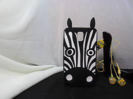 Объемный 3D силиконовый чехол для Samsung Note 3 Galaxy N9000 Зебра
