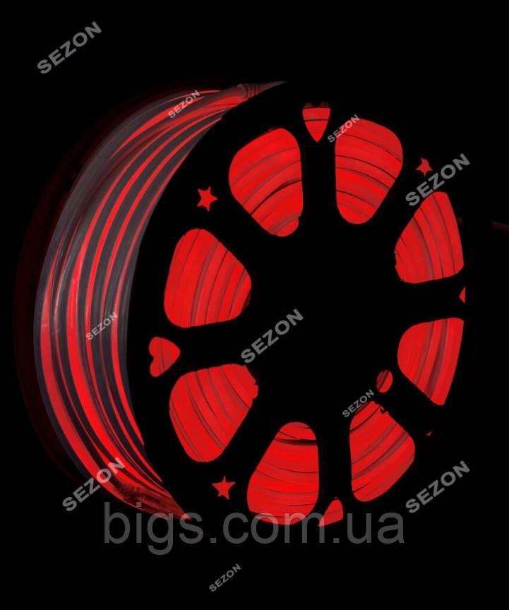 Світлодіодний Гнучкий Неон 2 х сторонній LED Флекс Неон 50 м Червоний