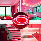 Світлодіодний Гнучкий Неон 2 х сторонній LED Флекс Неон 50 м Червоний, фото 3