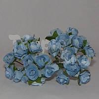 Цветок розы бумажный светло-голубой
