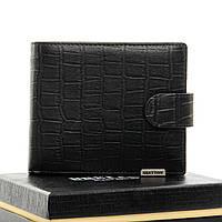 Мужское  портмоне Crocodile кожа BRETTON M3602 black.Мужские кошельки оптом и в розницу Украине