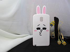 Объемный 3D силиконовый чехол для Samsung Note 3 Galaxy N9000 Кролик