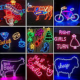 Світлодіодний Гнучкий Неон 2 х сторонній LED Флекс Неон 50 м Червоний, фото 10