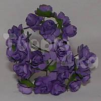 Цветок розы бумажный фиолетовый