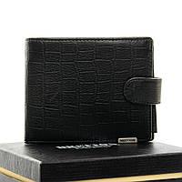 Мужское  портмоне Crocodile кожа BRETTON M3707 black.Мужские кошельки оптом и в розницу Украине