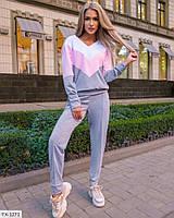 Трикотажний жіночий прогулянковий костюм спортивний світшот і штани з двох-нитки р-ри 42-44,44-46 арт 1552