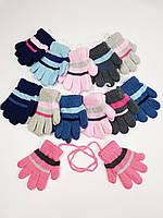 Дитячі польські рукавички для дівчат р.11см (6-12 міс) (12шт. набір), фото 1