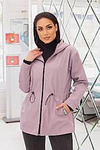 Жіноча батальна куртка водо-вітро непроникна на блискавці (р. 50-56).