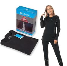 Женское  спортивное термобелье Columbia , комплект женского  термобелья для спорта чёрного цвета