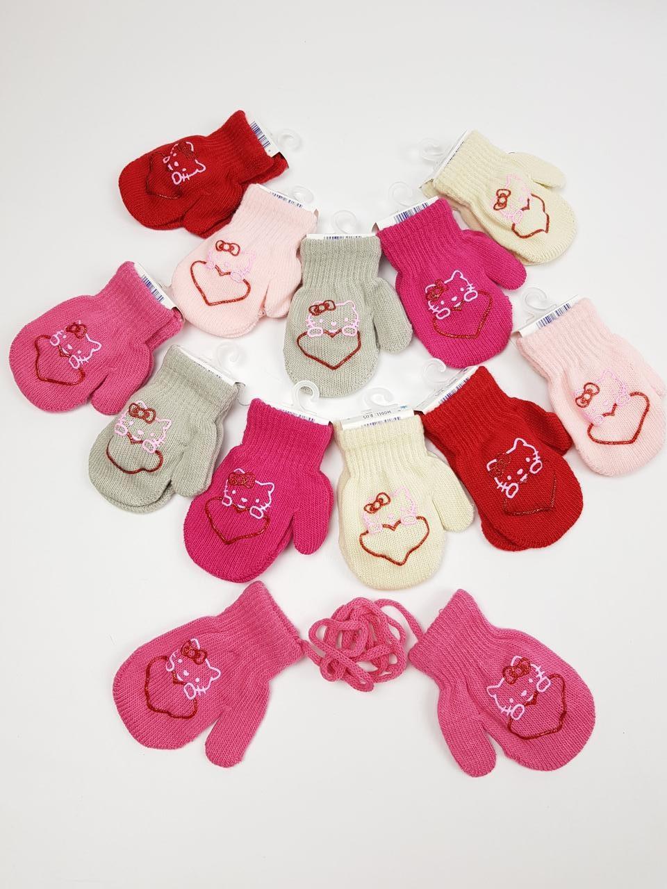Детские польские варежки для новорожденных р. 10 см (12шт. набор)