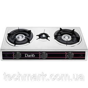 Настільна газова плита DARIO DR1014Gна 3 конфорки Нержавіюча сталь