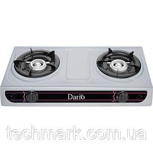 Настільна газова плита DARIO DR1012G на 2 конфорки Нержавіюча сталь