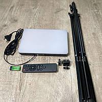 Профессиональная LED лампа для фотостудии MM-240, для студийного освещения Ra95+ 23см*16см, пульт 220V
