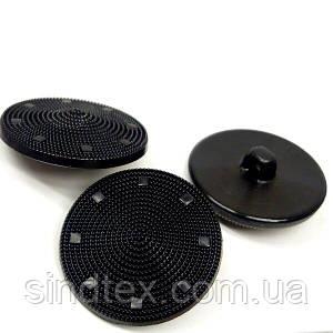 Красиві гудзики для (кардігана) верхнього одягу чорні 30 мм (СИНДТЕКС-1462)