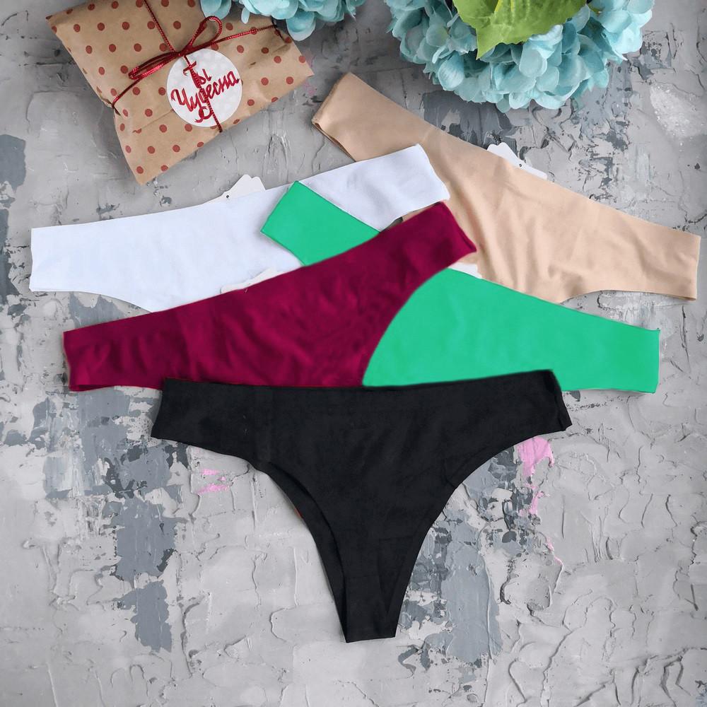 Стринги: комплект из 3 шт (цвет на выбор). Комплект из женских стрингов
